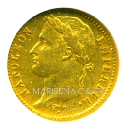 A FRANCE NAPOLEON I GOLD COIN 20 FRANCS obverse