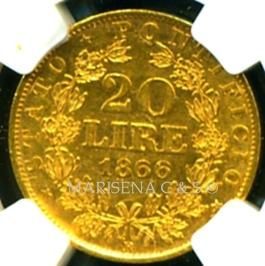 VATICAN GOLD COIN 20 LIRE   reverse